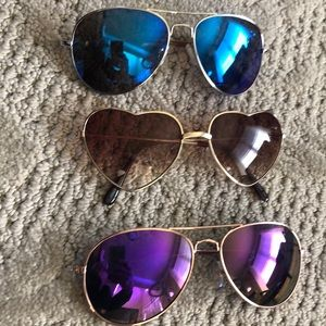 Set of 3 cheap sunglasses